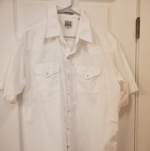 Mens western pearl snaps button down.  ELY Cattlem